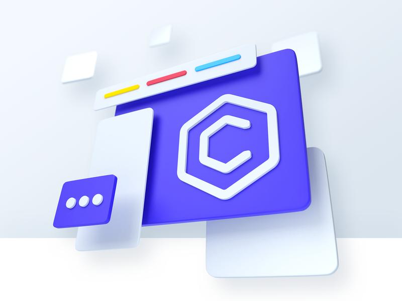 CoreUI New Admin Template Key Visuals blender3d blender key visual icon 3d admin panel coreui