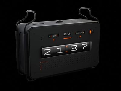 Krono - Smart Alarm Clock 3d animation concept hard surface hard surface modeling hardops 3d art 3d modeling speaker smart alarm clock product design