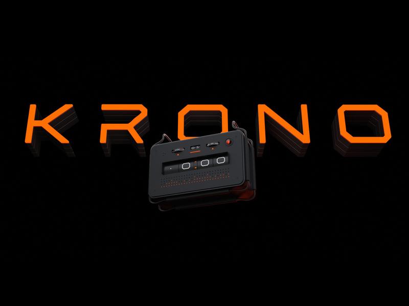 Krono Title smart speaker alarmclock smarthome branding design blender 3d