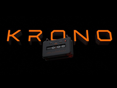 Krono Title smart speaker alarmclock smarthome branding design blender 3d
