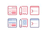 Web Design Code Icons