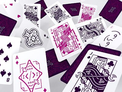 Cards bug jazzy magic poker joker clubs diamonds spades queen jack king cards