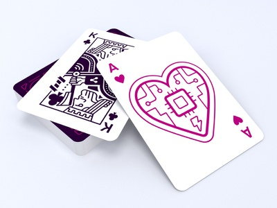 Cards cpu ace jazzy magic poker clubs diamonds spades queen jack king cards