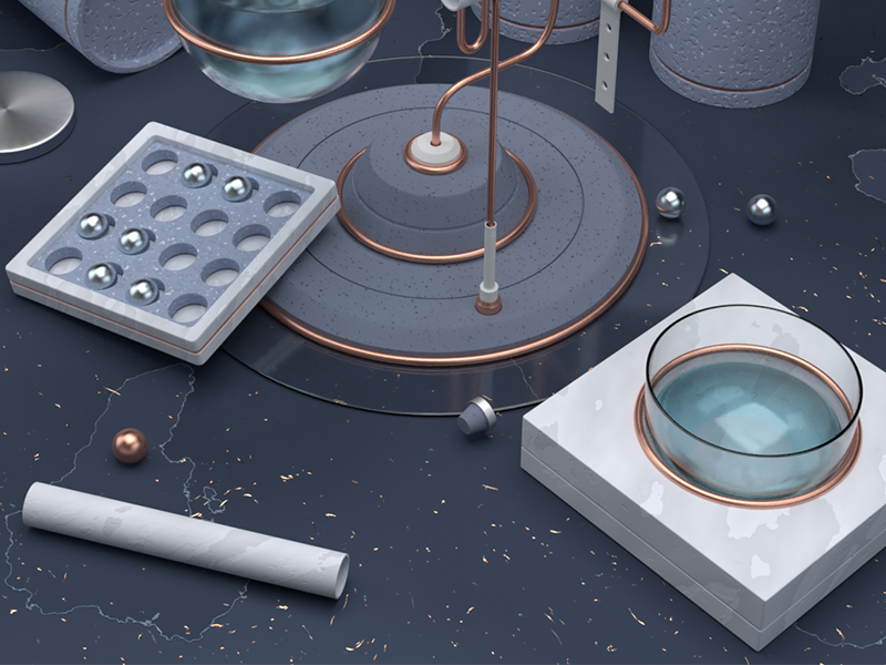 More details abstract composition textures procedural marble blue blender 3d