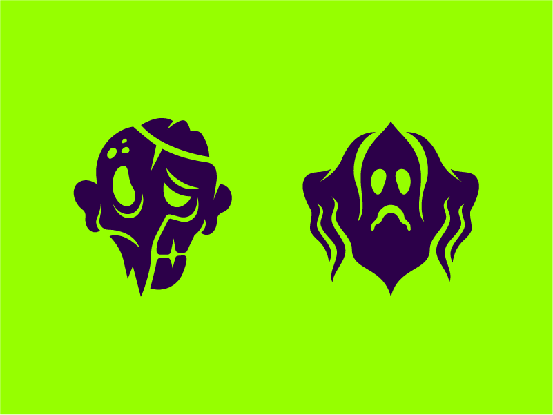 Halloween icons scary booo creeps pictograms scare horror spooky soul undead dead monster green icons icon creep ghost zombie halloween