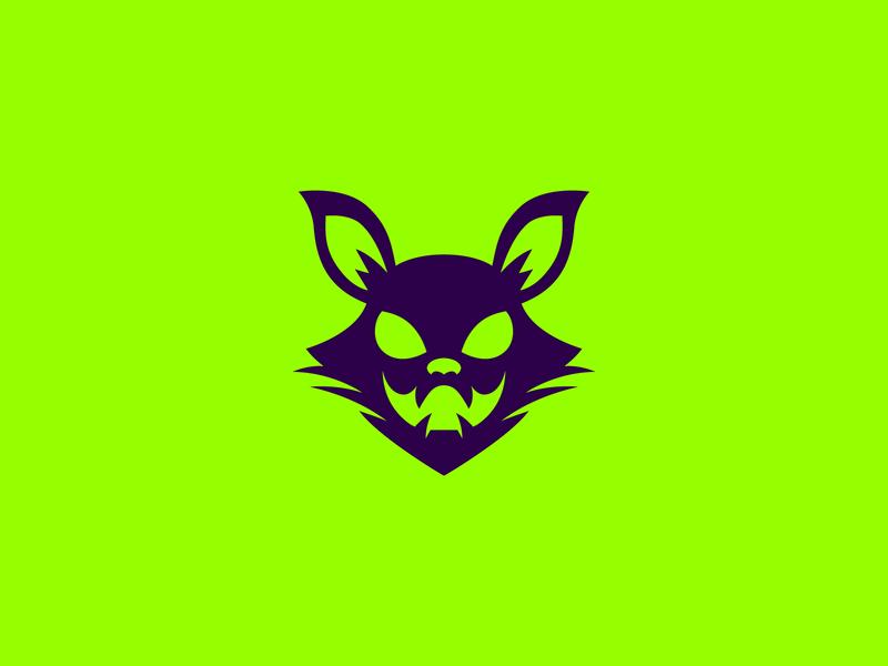 Halloween cat violet purple green dark smile whiskers black cat spooky creep halloween animal icon cat