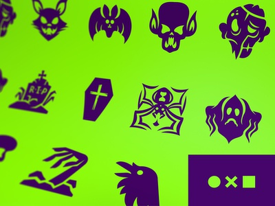 Halloween Icons Update on Noun Project