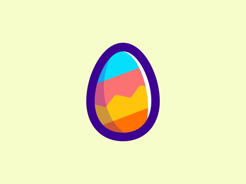 Easter icons pack in colour egg hunt holidays holiday festive easter egg playful color egg easter illustration icon icons