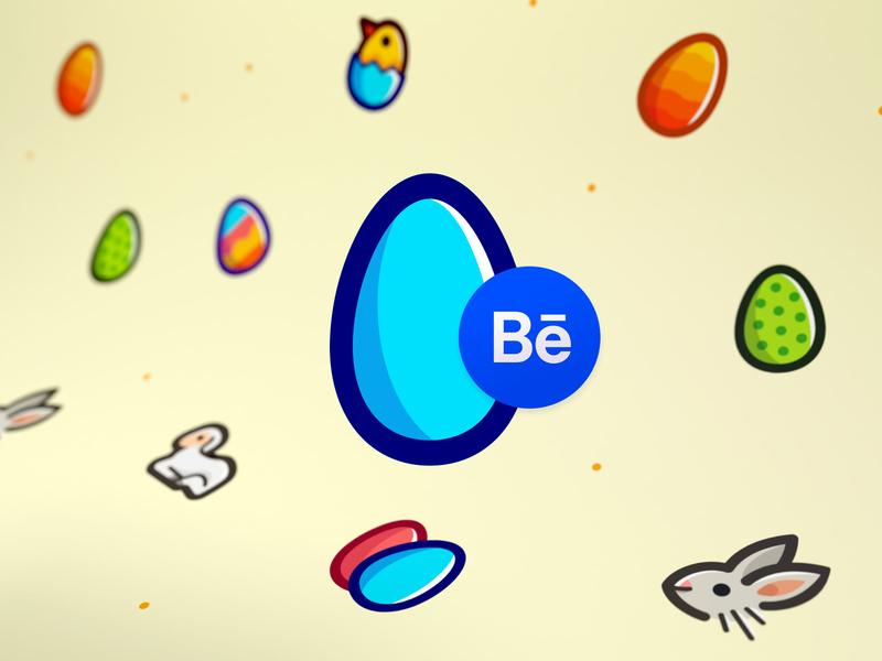 Easter Icon pack on Behance lamb eggs egg chick chicken rabbit egghunt easteregg easter behance blue vector icon illustration icons
