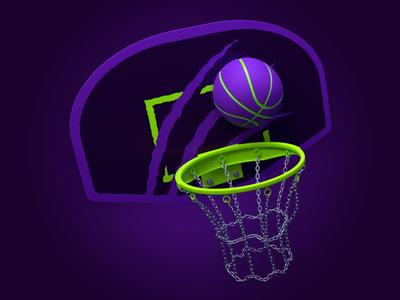 Halloween Cats Basketball Hoop