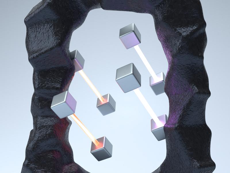 36daysoftype - Q detail purple blender3d b3d blender render 3d light violet orange typograpgy cube lettering qubicle quantum letter q 36daysoftype 36days
