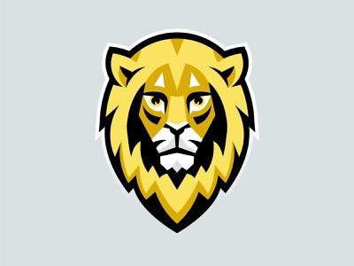 Lwy (Lions) E-Sport Team Mascot Logotype animal cat grey yellow sport esports lwy lions lion logo head mascot logo mascot esport lion logo