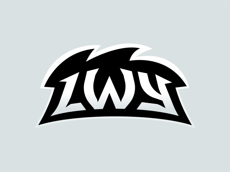 Lwy (Lions) E-Sport Team Logotype Typography