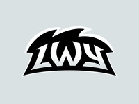 Lwy (Lions) E-Sport Team Logotype Typography