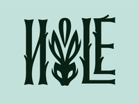 Hole Logotype nature wood rabbit letter handlettering typo caligraphy typography logotype logo hole