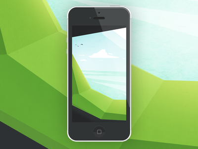 Look from the cave iphone wallpaper illustration vector summer