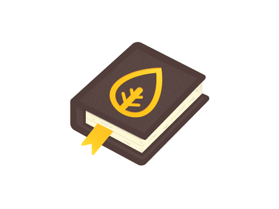 BookTomeThing vector illustration icon book tome nature leaf