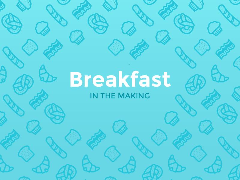 Breakfast Pattern Freebie vector pattern icon breakfast freebie bacon muffin pretzel free