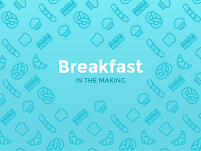 Breakfast Pattern Freebie vector pattern icon breakfast freebie bacon muffin pretzel free
