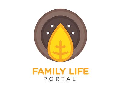 Family Life Portal Outtakes #2 portal family life leaf branding logo vector