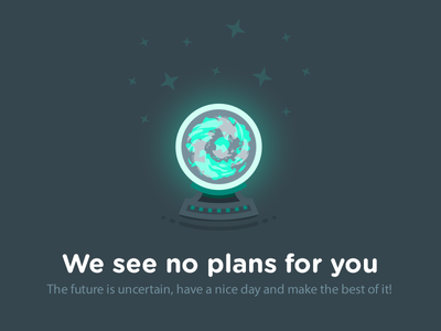 No plans future magic nollocks plans status ui vector illustration