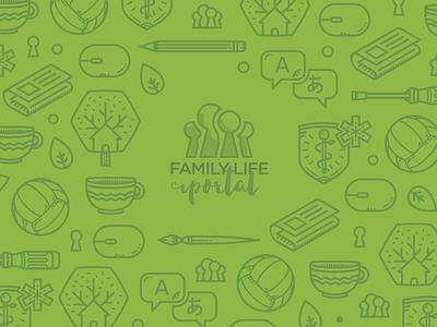 Family Life Wallpaper life family vector illustration wallpaper cover
