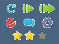 Kids TV app icon set