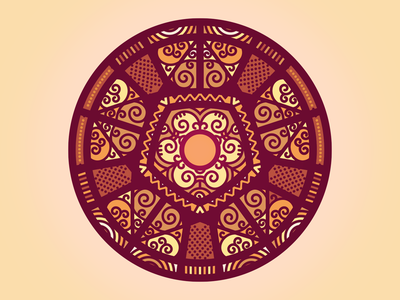 Pizzandala circle pizza vector illustration geometry mandala
