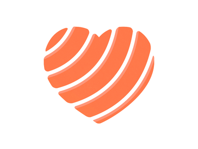 Salmon Lover vector logo raw fish heart love lover salmon sushi