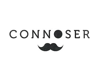 Connoser logo branding moustache connoser sentinel active