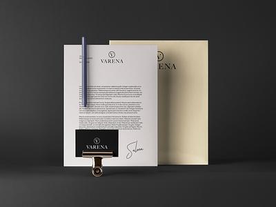 VARENA | Corparate identity creative corparate identity brand branding modern chic clean logo design concept design typography logo varena
