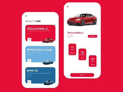 Mobile App for Car Leasing clean ux ui design uiux ui application app design modern design concept app