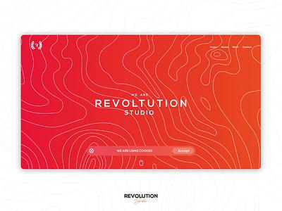 Revolution studio | webdesign adobe xd xd ui ux designer designs ui  ux ui ux design uiux concept ux ui webdesign clean logo design modern logo typography design