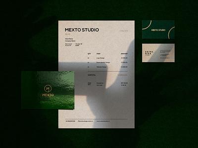Mexto studio | corporate identity corporate identity design adobe illustrator cc chic clean logo design branding logo modern typography design concept corporate identity