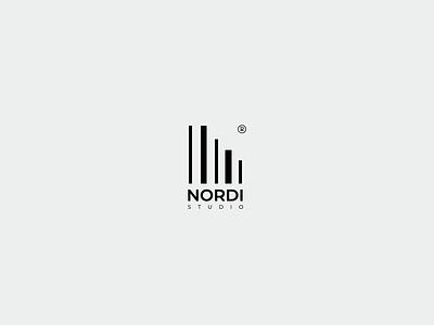 Nordi studio | Logo animation simpel clean animation graphic design motion graphics illustration logo design branding logo modern typography design concept