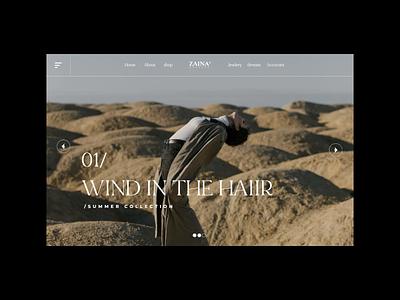 ZAINA | Web animation webshop website trend clean simpel user interface ux motion graphics animation ui branding modern design concept