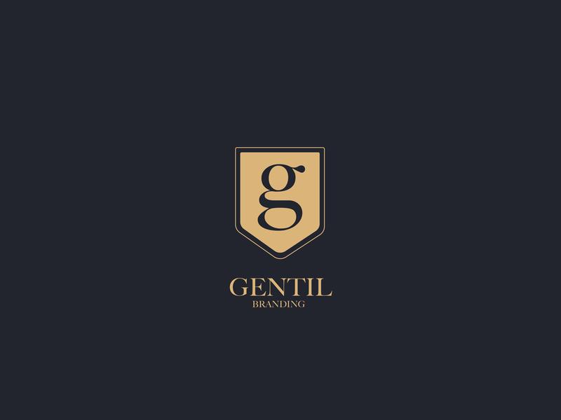 Gentil illustrator illustrated logo concept luxery biege chic typography brand branding adobe illustrator cc logo logo design design