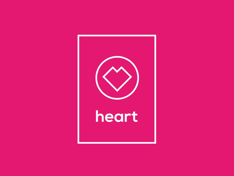 Heart pink heart adobe illustrator cc concept logo design logo design