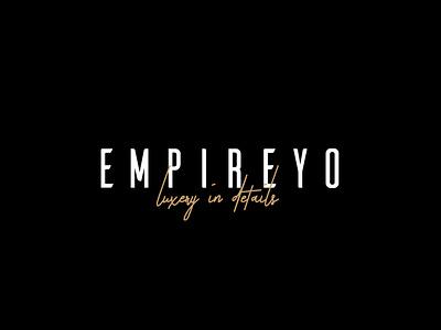empireyo logo design illustrated logo chic concept branding adobe illustrator cc typography logotype logodesign logo modern logo clean design modern clean