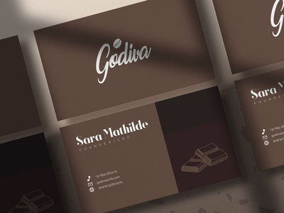 Godiva | Buisines card brand clean illustrated logo typography design chic branding modern concept logo businesscard