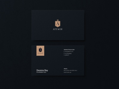 Attach | Business card clean chic branding modern concept design businesscard business
