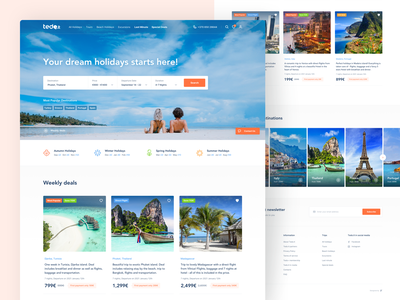 Tedo.lt - Homepage travel website holidays booking booking app vacation ecommerce flight search traveling interface checkout homepage user experience trip planner car rental
