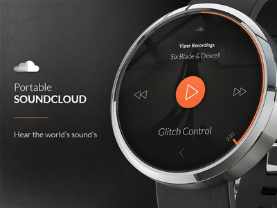 Portable SoundCloud for Moto 360 Android Watch