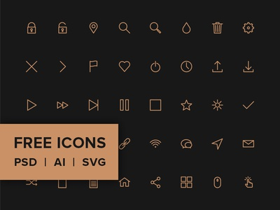 Free Line Icon Pack - PSD, AI, SVG & WEB FONT