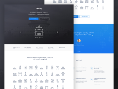 Travy Icons Landing Page