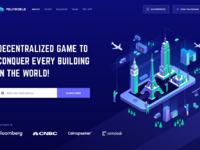 Polyworld landing header