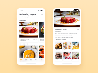 Be My Bee iOS App - Stores bemybee ios minimal app food delivery app clean app design restaurant profile shopping ecommerce application ui ux product order user experience user interface