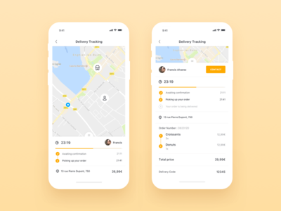 Be My Bee iOS App - Delivery user interface user experience product order ui ux shopping ecommerce application restaurant profile clean app design food delivery app bemybee ios minimal app