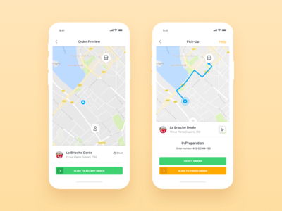 Be My Bee iOS App Order Preview And Pick Up bemybee ios minimal app food delivery app clean app design restaurant profile shopping ecommerce application ui ux product order user experience user interface