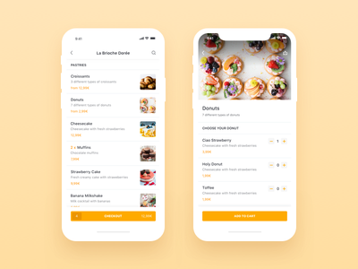 Be My Bee iOS App Menu & Checkout user interface user experience product order ui ux shopping ecommerce application restaurant profile clean app design food delivery app bemybee ios minimal app